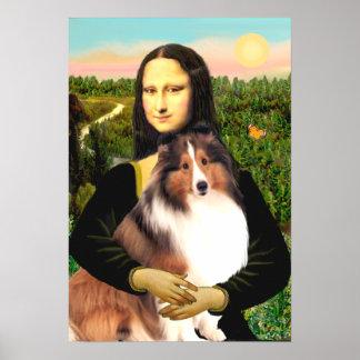 Shetland Sheepdog 7b - Mona Lisa Posters