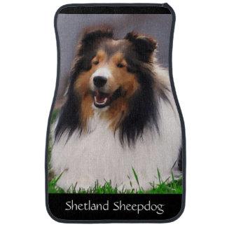 Shetland Sheepdog Art Car Mat