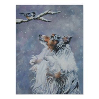 Shetland Sheepdog Art Print print