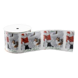 Shetland Sheepdog Believe Christmas Grosgrain Ribbon