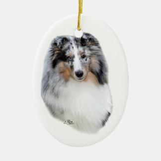Shetland Sheepdog-blue merle ornament