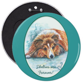 Shetland Sheepdog Button Pins