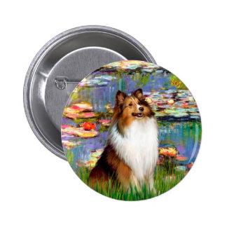 Shetland Sheepdog (Bz) - Lilies 2 Pins