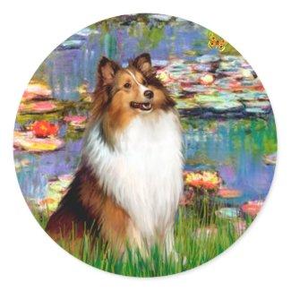 Shetland Sheepdog (Bz) - Lilies 2 sticker