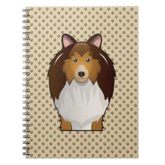 Shetland Sheepdog Cartoon Notebook