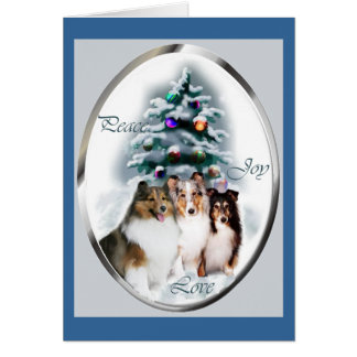 Shetland Sheepdog Christmas Gifts Card