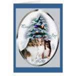 Shetland Sheepdog Christmas Gifts Greeting Cards