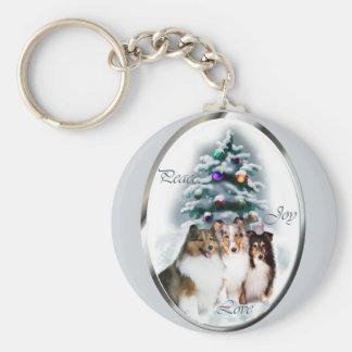 Shetland Sheepdog Christmas Gifts Keychain