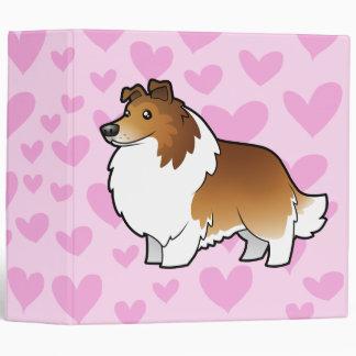 Shetland Sheepdog / Collie Love 3 Ring Binder