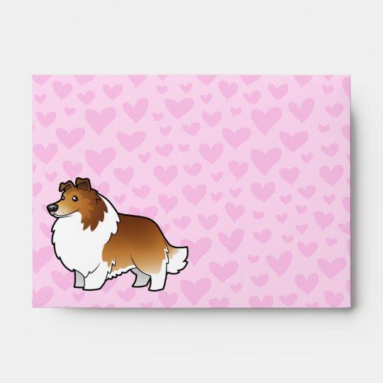 Shetland Sheepdog / Collie Love Envelope