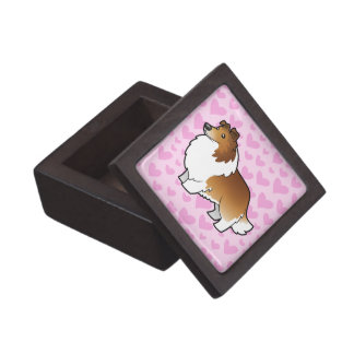 Shetland Sheepdog / Collie Love Premium Trinket Boxes