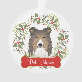Shetland Sheepdog Customizable Ornament