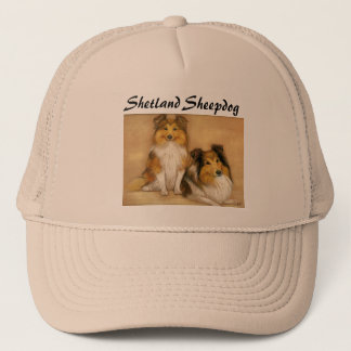"""Shetland Sheepdog"" Dog Art Hat"