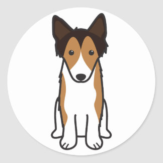 Shetland Sheepdog Dog Cartoon Classic Round Sticker