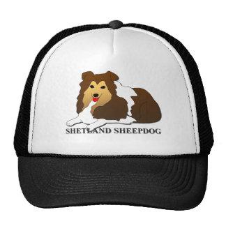 Shetland Sheepdog Dog Cartoon Trucker Hat