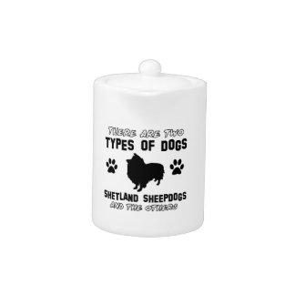 shetland sheepdog dog Designs Teapot