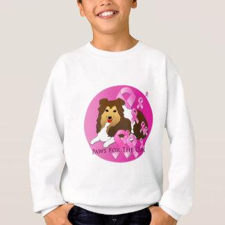 Shetland Sheepdog Dog Pink Ribbon Sweatshirt