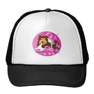 Shetland Sheepdog Dog Pink Ribbon Trucker Hat