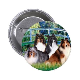 Shetland Sheepdog (four) - Bridge Button