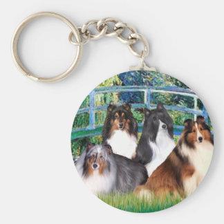Shetland Sheepdog (four) - Bridge Key Chains