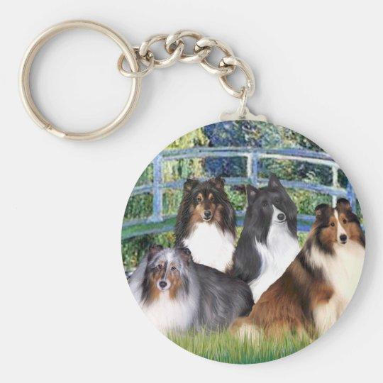 Shetland Sheepdog (four) - Bridge Keychain