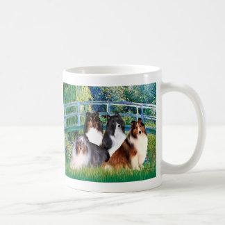 Shetland Sheepdog (four) - Bridge Classic White Coffee Mug