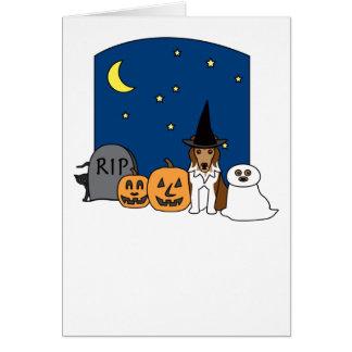 Shetland Sheepdog Halloween Greeting Card