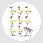 Shetland Sheepdog Herding Ducks Stickers