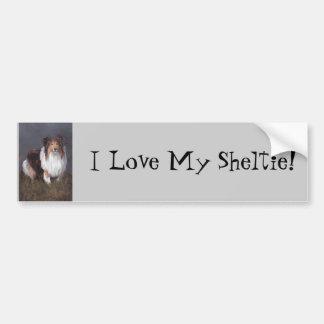 Shetland Sheepdog I Love My Sheltie Bumper Sticker