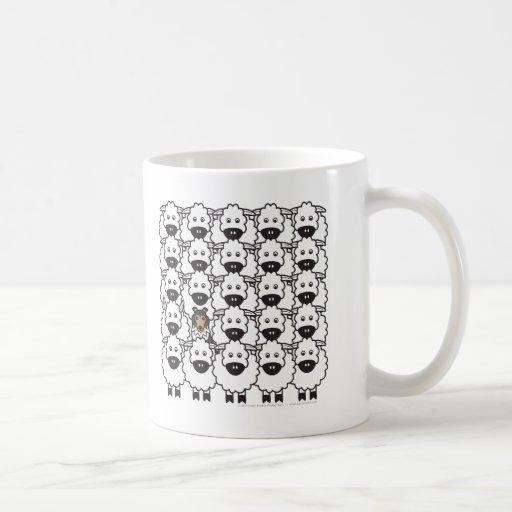 Shetland Sheepdog in the Sheep Classic White Coffee Mug
