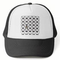 Shetland Sheepdog in the Sheep Trucker Hat