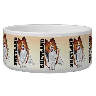 Shetland Sheepdog Kibble Bowl