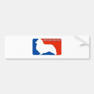 Shetland Sheepdog Major League Dog Bumper Sticker Car Bumper Sticker