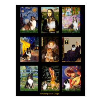 Shetland Sheepdog Masterpiece Composite Postcard