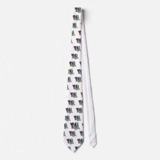 Shetland Sheepdog (merle) Flag Neck Tie