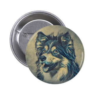 Shetland Sheepdog Painting Button