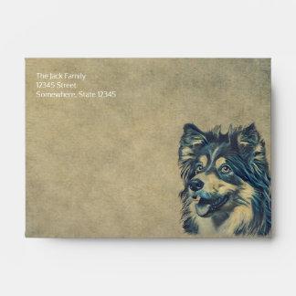 Shetland Sheepdog Painting Custom Envelope