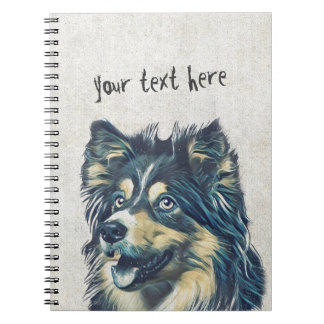 Shetland Sheepdog Painting Notebook