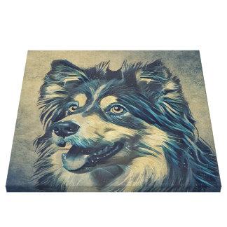 Shetland Sheepdog Painting Wrapped Canvas