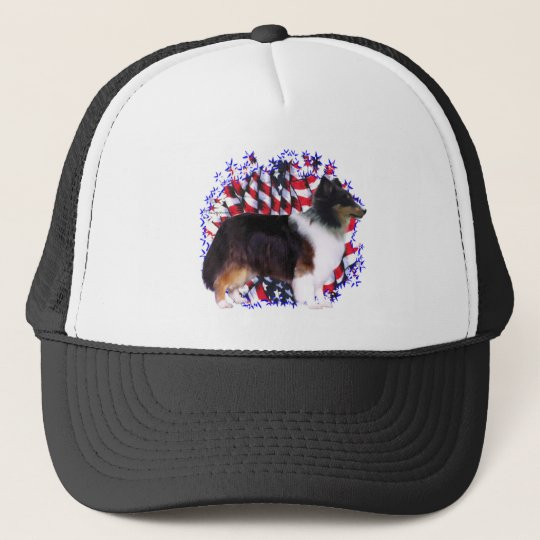 Shetland Sheepdog Patriot Trucker Hat