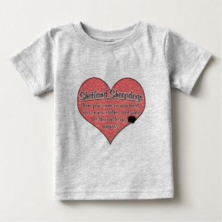 Shetland Sheepdog Paw Prints Dog Humor Baby T-Shirt