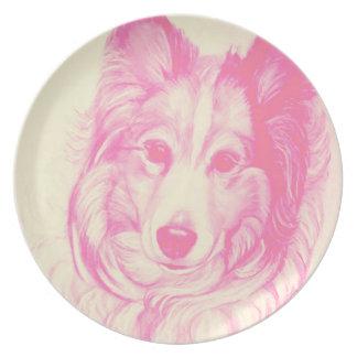 Shetland Sheepdog Plate with Original Artwork