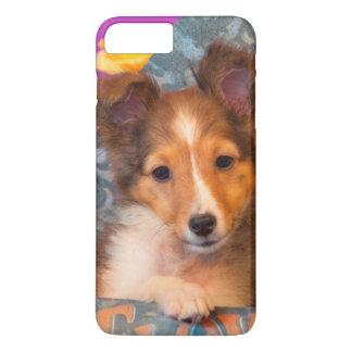 Shetland Sheepdog puppy in a hat box iPhone 7 Plus Case