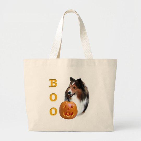 Shetland Sheepdog (sable) Boo Large Tote Bag