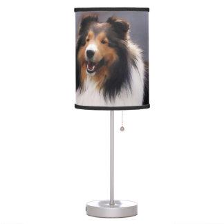 Shetland Sheepdog Sheltie Art Gifts Table Lamps