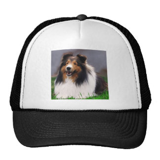 Shetland Sheepdog Sheltie Art Gifts Trucker Hat