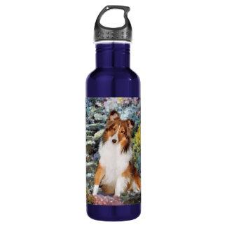 Shetland Sheepdog Sheltie Art Water Bottle
