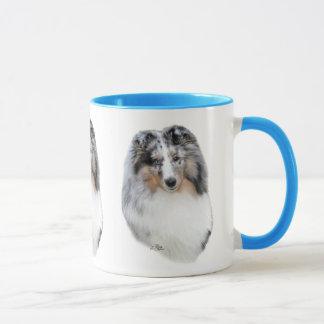 Shetland Sheepdog (Sheltie) blue merle head mug