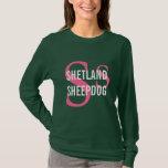 Shetland Sheepdog (Sheltie) Breed Monogram Design T-Shirt