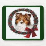 Shetland Sheepdog Sheltie Christmas Gifts Mouse Pad
